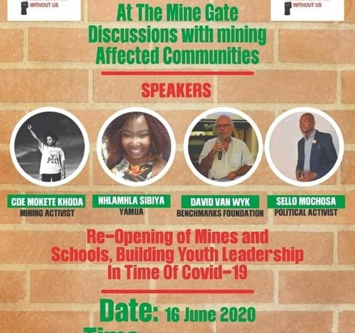 Webinar 1: At the Mine Gates: Discussions with Mining Affected Communities